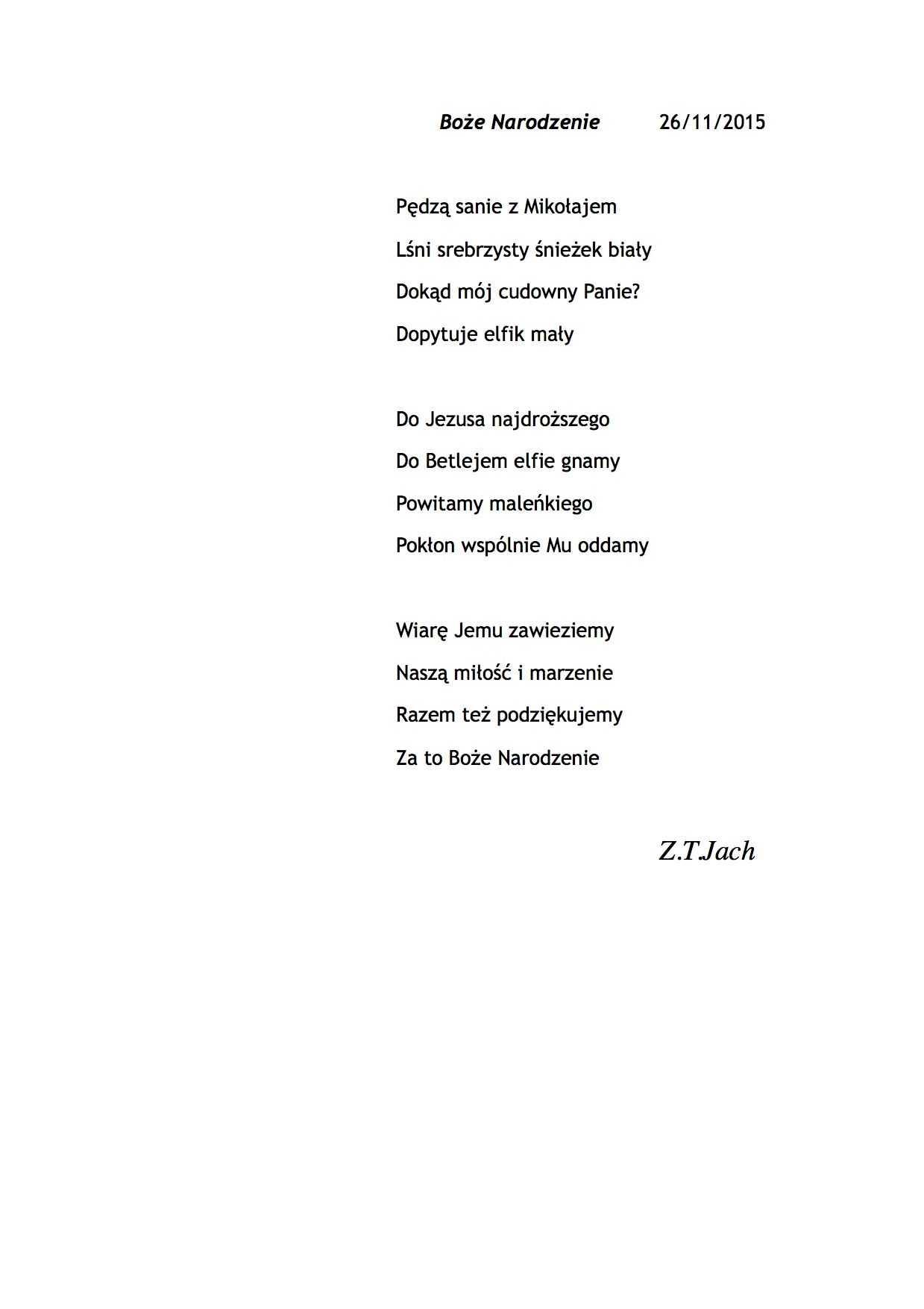 Wiersze Na święta Bożego Narodzenia Zbigniew T Jach 2