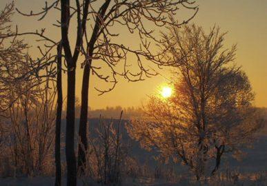 Zimowy widok Zamkowa Góra