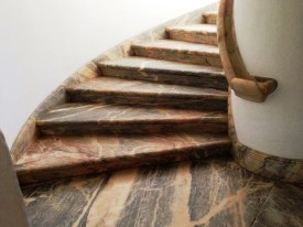 Marble stairs in Evora Portugal