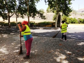 Street Cleaners in Elvas Potugal