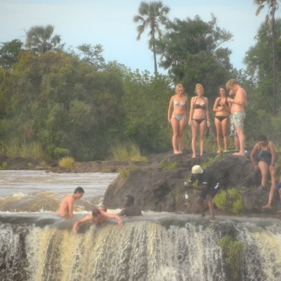 Devils Pool and Livingstone Island with Zamology