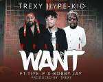 Trexy Hype Kid - Ft Tiye P X Bobby Jay-What I Want-Prod By Trexy