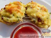 Foto till receptet: Potatiscrumb med korv och ost