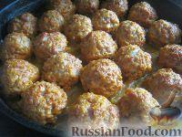 """Foto till receptet: köttbullar med ris """"igelkott"""""""
