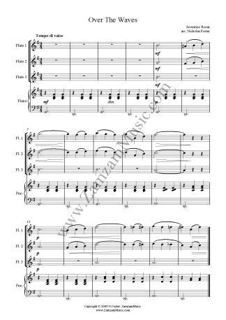 Saint-Saens  The Swan  Trio for 2 Flutes and Alto - Zamzam Music