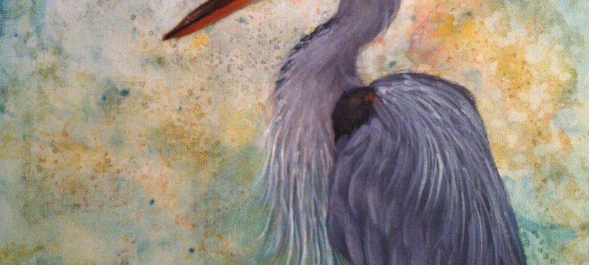Acrylic Great Blue Heron