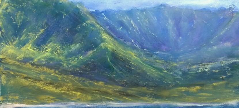Pastel Hawaiian Mountain Shore