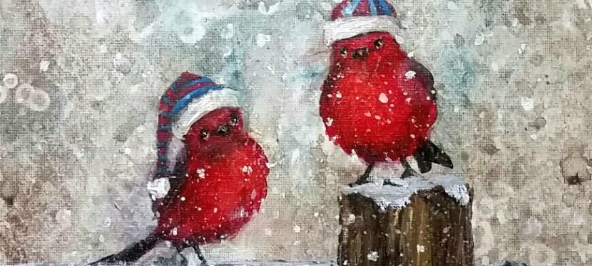 Acrylic Winter Chirps!