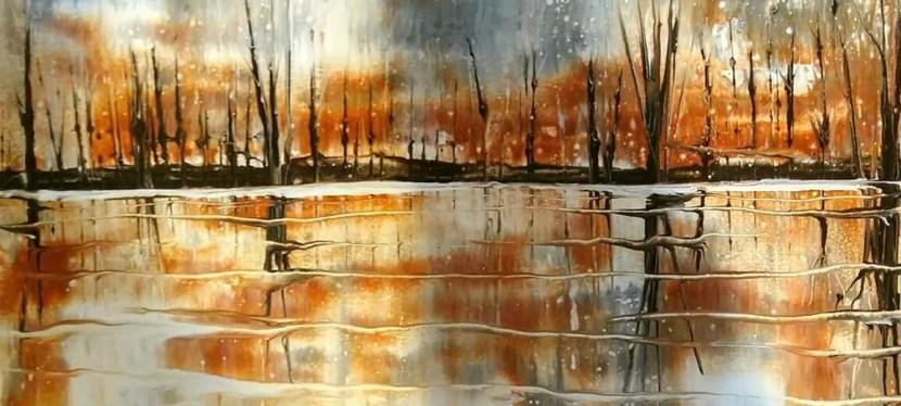 Flow Painting Landscape Reflection