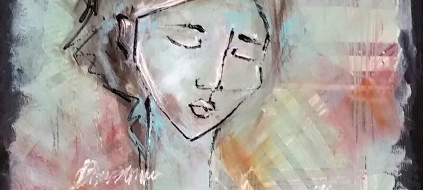 Mixed Media Study of Modigliani