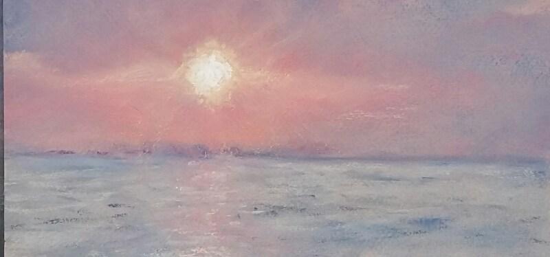 Pastel Sandpiper at Sunrise