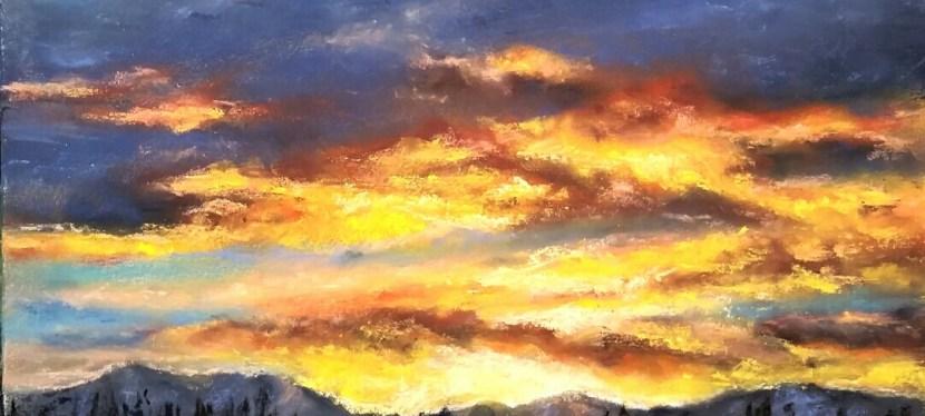 Pastel Alaska Dog Park Sunset