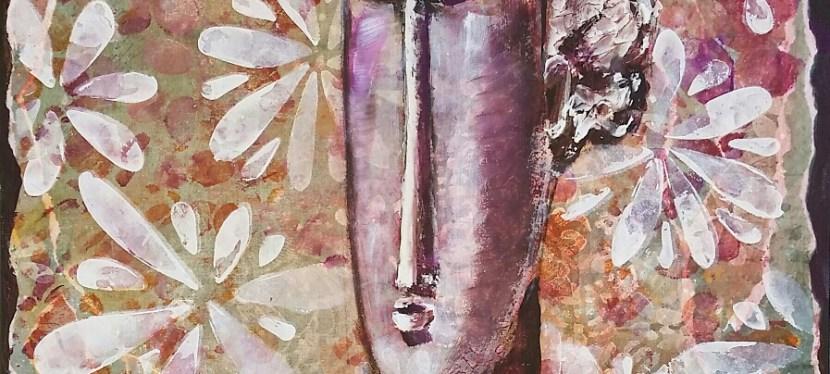 Mixed Media Ode to Modigliani Sculpture