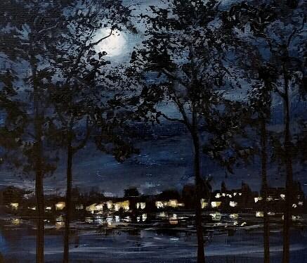 Acrylic Florida Moonrise