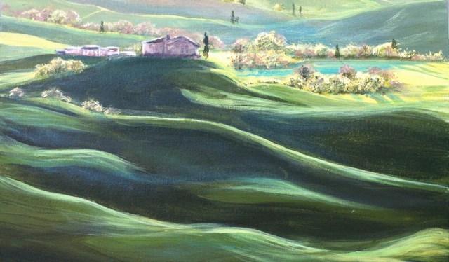 Acrylic Tuscany Hills