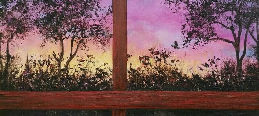 Acrylic Through the Window