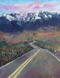 Road Trip 11x14 acrylic ©Zan Savage Image is a Zan Savage original. Copying, altering, printing or redistribution of any images without written permission from the Artist is strictly prohibited.