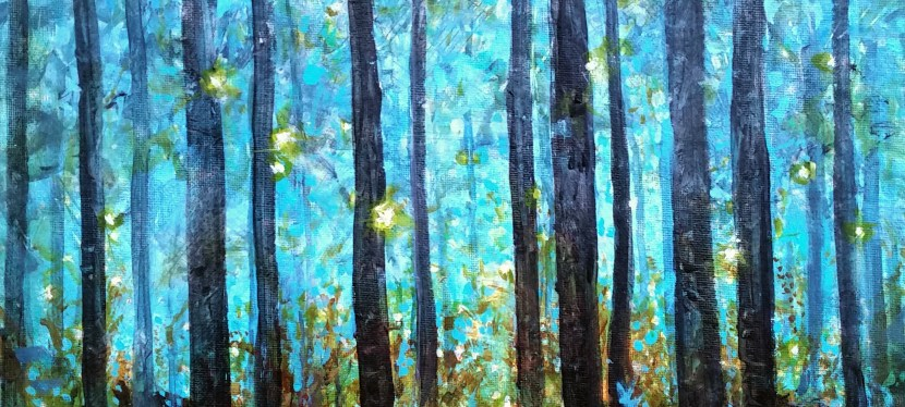 Mixed Media Enchanted Forest