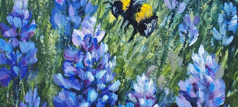 Acrylic Bluebell Bumblebee