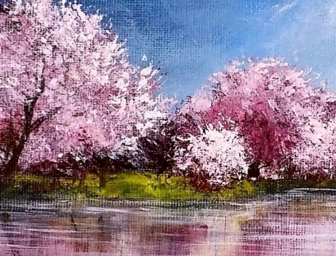 Acrylic Cherry Tree Reflections 2