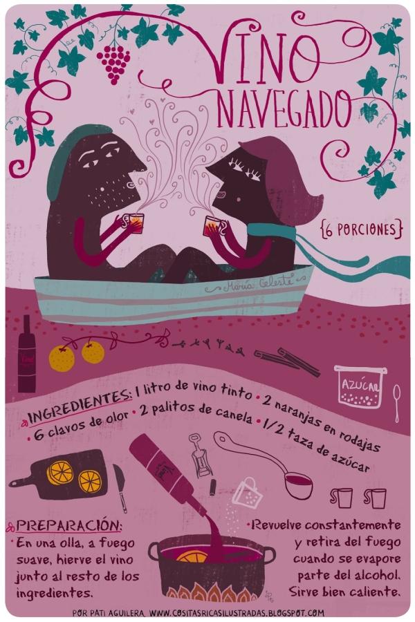 vino navegado _ pati aguilera_cositas ricas ilustradas