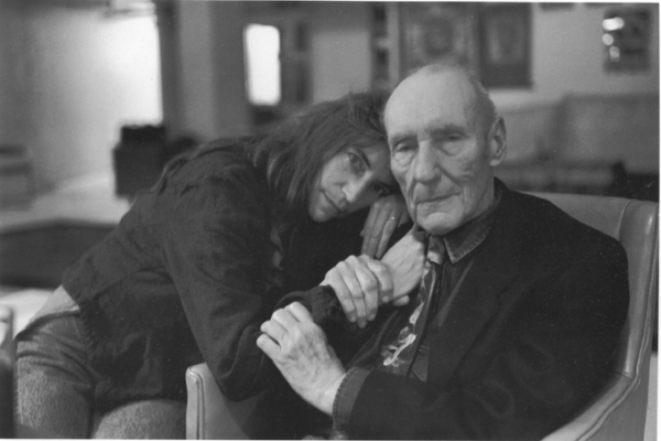 william burroughs & Patti Smith by Allen Ginsberg