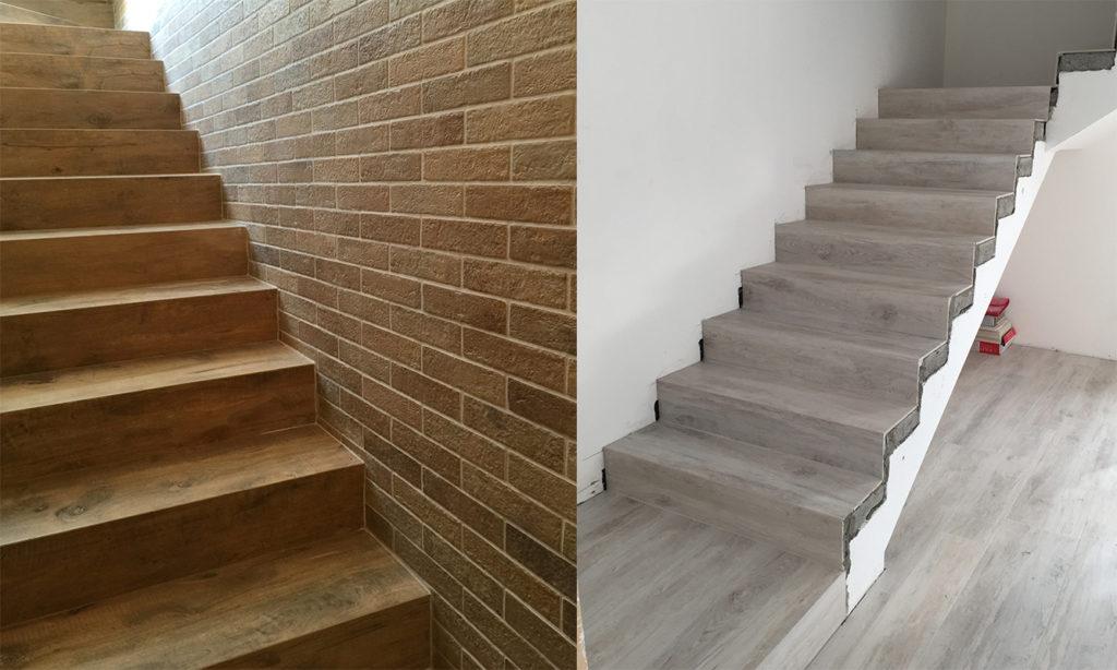 Scale interne legno marmo o gres porcellanato  Zanella