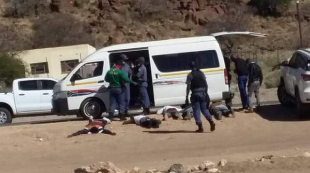 Three Zimbabweans arrested on their way to rob post office in South Africa