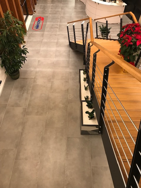 Posa pavimenti nuova sede cazzaro spa a zero branco