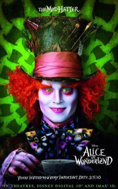 Mad Hatter poster Johnny Depp