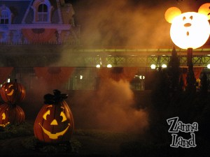 Fog rises from the Magic Kingdom as spirits gather for Halloween!