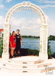J and me dreaming at the Wedding Pavilion-1995