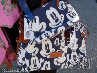 Blue Mickey Pouchette and Domed Satchel