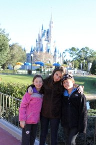 Cinderella Castle with Erin Foster's children