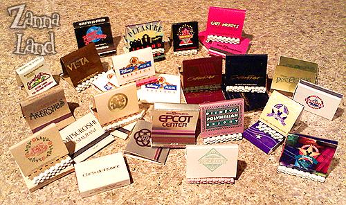 Disney Matchbooks