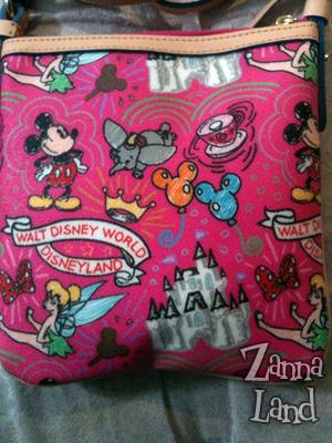 Disney Dooney and Bourke Pink Sketch Letter Carrier