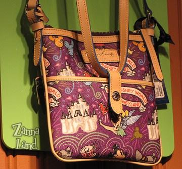 Disney Dooney and Bourke Purple Letter Carrier