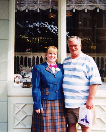 My Dad and I at Uptown Jewelers in 1995