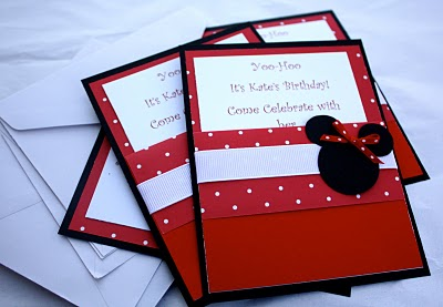 Minnie Mouse Party Invites