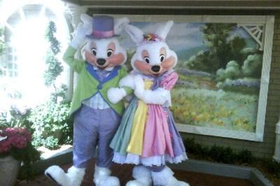 Easter bunny at Magic Kingdom