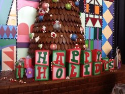 Contemporary Mary Blair gingerbread tree