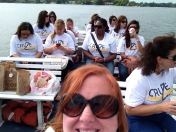 Bloggers on the Winter Park Scenic Boat Tour
