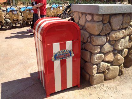 Storybook Circus trashcan