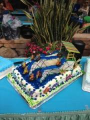 Aquatica birthday cake