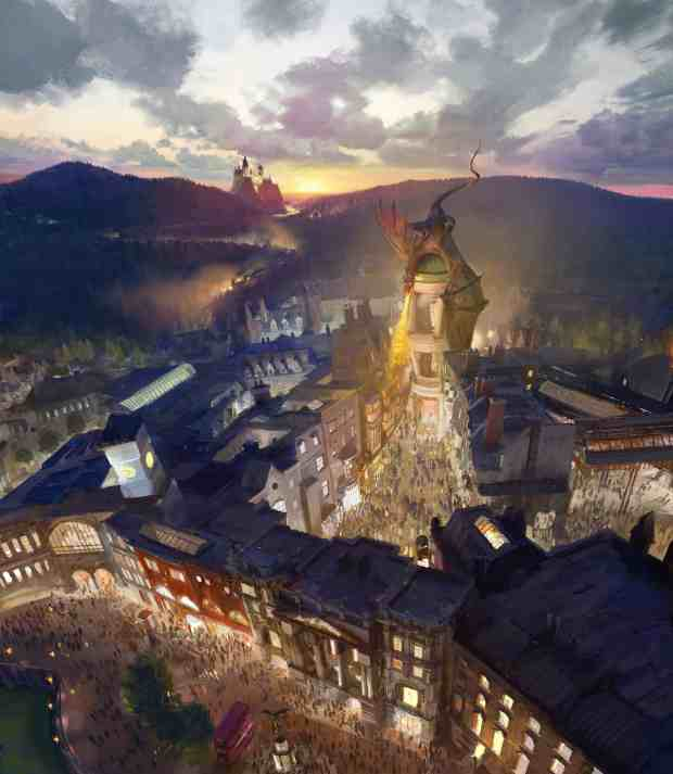 The Wizarding World of Harry Potter - Diagon Alley Rendering