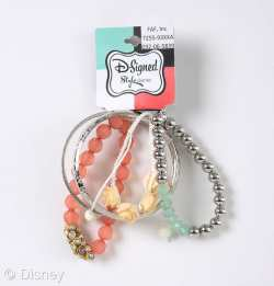 D-Signed Stylediaries Collection Bejeweled Flower and Gem Bracelet Set