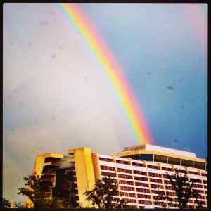 Contemporary Resort rainbow