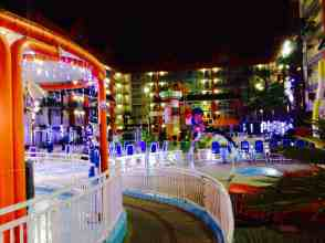 Decorated Oasis Pool area