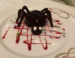 The Spider chocolate mousse dessert