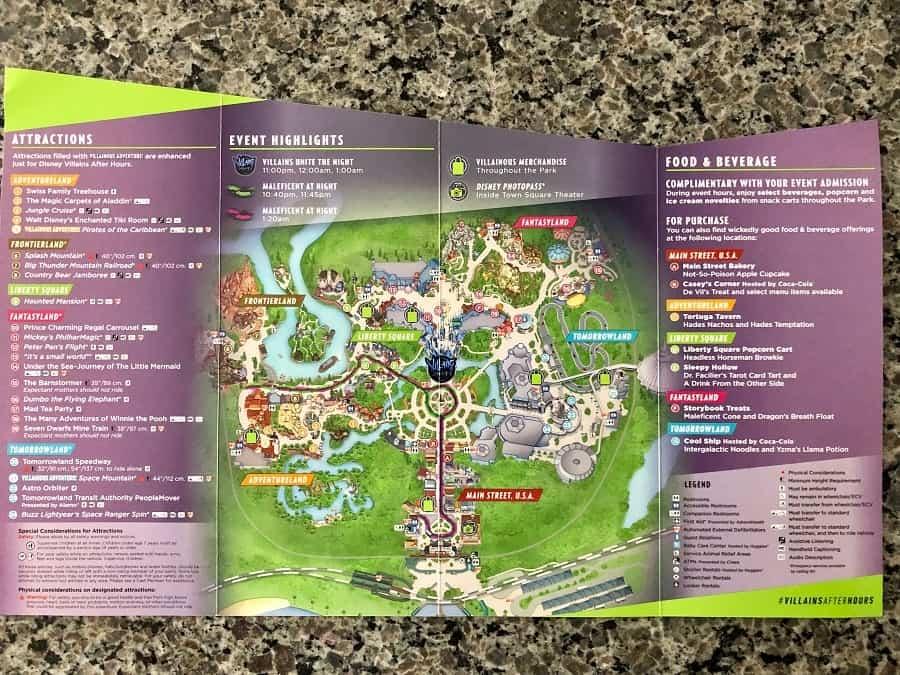 Disney Villains After Hours Map